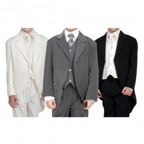 Boys Suits 4 Piece Waistcoat Suit  4 Colours (HP1)
