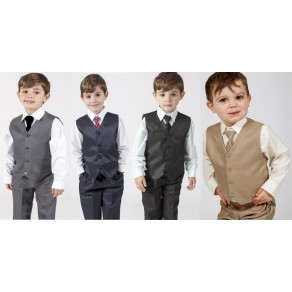 2c93a4a61b243 Boys Suits 4 Piece Waistcoat Suit 4 Colours (HP1) BUY OR HIRE from just