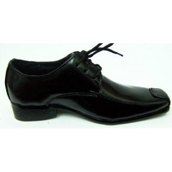 Paulo boys formal black square toe shoes - available in size 6 - 7