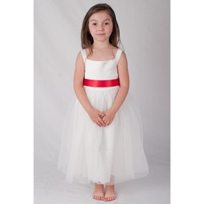 Girls Ivory Flower Dress