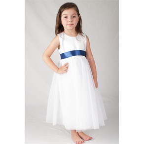 Girls White Bridesmaid Dress