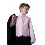 5 Piece Black Suit (Pink Waistcoat)