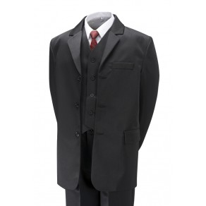 5 Piece Black Suit