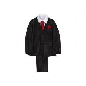 5 Piece Black Pinstripe Suit- BUY OR HIRE from just £10.99 1-15 years