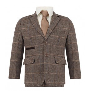 Boys Tweed Peaky Blinders Formal Slim Fit Suit 1 - 15 years £49.99