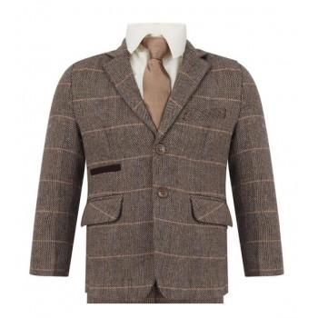 Boys Tweed Peaky Blinders Formal Slim Fit Suit 1 - 15 years £49.99