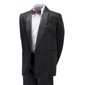 Boys James Bond Style Black Tuxedo, Shirt,Bow Tie 6mths-15yrs