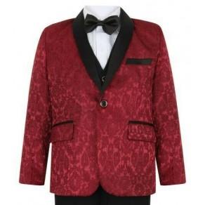 Boys Wine Tuxedo Suit