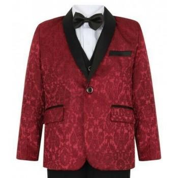 Boys Wine Tuxedo Boys Dinner Suit James Bond Suit 1 - 15 years £29.99