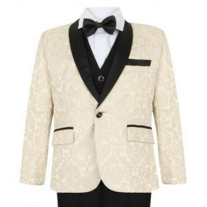 Boys Ivory Tuxedo Boys Dinner Suit James Bond Suit 1 - 15 years £29.99