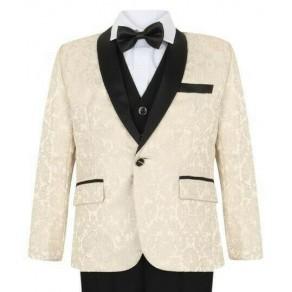 Boys Ivory Tuxedo Suit