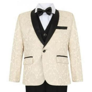 Boys Ivory Tuxedo Boys Dinner Suit James Bond Suit 1 - 15 years £29.99