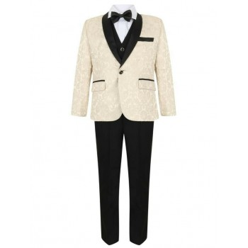 Boys Ivory Tuxedo Boys Dinner Suit James Bond Suit 1- 15 years £29.99