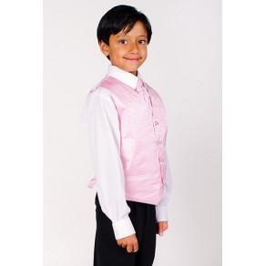 4 Piece Pink Waistcoat Suit