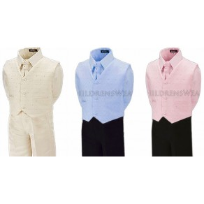 Boys 4 Piece Cream Formal Wedding Suit - 4 months to 8 years