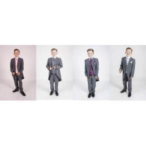 5pc Tailcoat Grey Dobby (HP1) in Pink/ Purple/Blue/Navy BUY OR HIRE from just £10.99