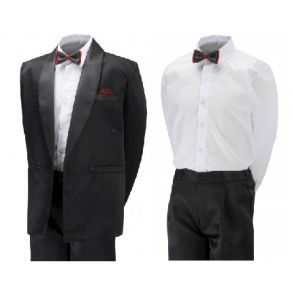 Boys & Mens TUXEDO -Black/Cream/White- BUY OR HIRE from just £10.99 and £15.99 for mens suit (with full refundable deposit)