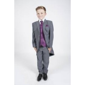 5pc Tailcoat  Grey/Purple Diamond (HP1) BUY OR HIRE from just £10.99