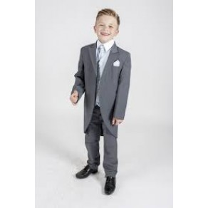 5pc Tailcoat Grey Blue Diamond Suit  (HP1) BUY OR HIRE from just £10.99
