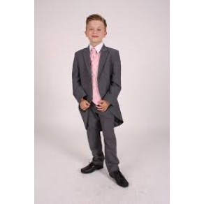5pc Tailcoat Grey/ Pink Dobby (HP1) BUY OR HIRE from just £10.99