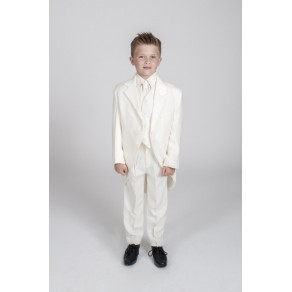 Boys 5pc Tailcoat Morning Suit Wedding Formal Suits 3 Colours Black Cream Grey  (HP1) BUY OR HIRE from just £10.99