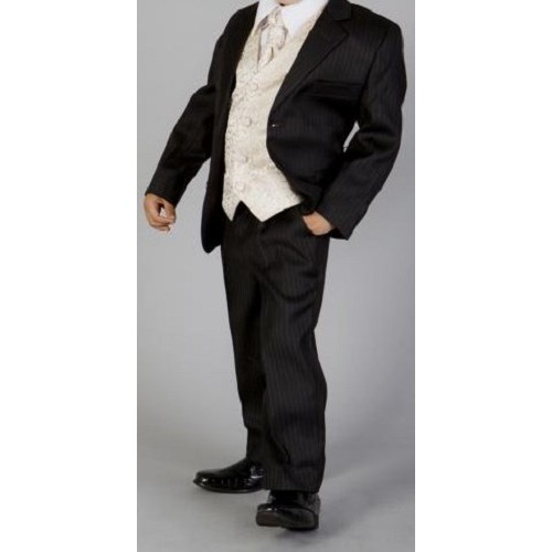 e99b8f0b06c HP3 (Marcel 'Andre' 5 Piece Black Pinstripe Suit with Gold Waistcoat &  Cravat)- BUY OR HIRE from just £10.99