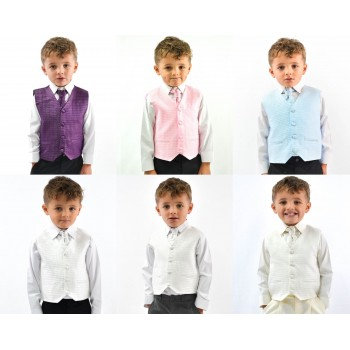 Boys Suits Waistcoat Suits Boys Wedding Suits 4pc Baby Page Boy Party 6 Colours  BUY OR HIRE from just £10.99