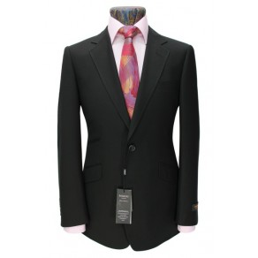 Prince Edward2- Mens BLACK 2-Button Slim Fit Suit- HIRE from just £15.99 (with full refundable deposit)
