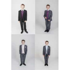 5PC DIAMOND SUIT- GREY OR BLACK - DIFFERENT COLOURS WAISTCOATS - (HP1) BUY OR HIRE from just £10.99