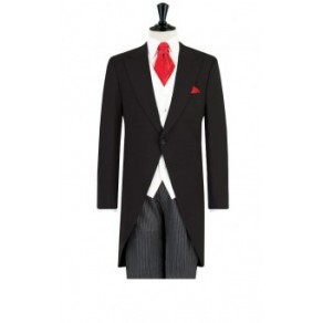 Prince William1 Mens Black Morning Suit Striped Trousers- HIRE from just £15.99 (with full refundable deposit)
