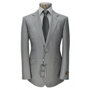 Prince Edward3- Mens GREY 2-Button Slim Fit Suit- HIRE from just £15.99 (with full refundable deposit)