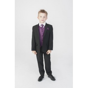 5PC BLACK DIAMOND SUIT IN PURPLE (HP1)