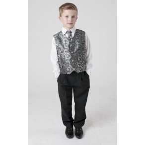 4 PIECE PAISLEY SUIT IN SILVER (HP1) BUY OR HIRE from just £10.99