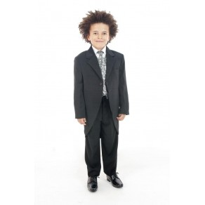 5 PIECE SILVER PAISLEY TAIL SUIT (HP1) BUY OR HIRE from just £10.99