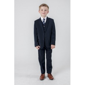 5 PIECE SLIM FIT SUIT-  BLACK/  GRAY/  NAVY (HP1)