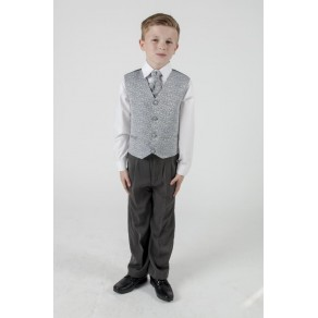 4 PIECE SWIRL SUIT IN SILVER (HP1) BUY OR HIRE from just £10.99