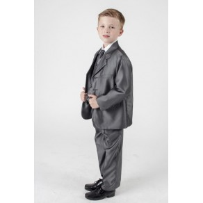 5 PIECE SHINY SUIT IN GREY (HP1)
