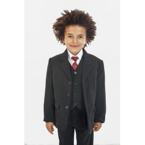 5 PIECE CLASSIC SUIT IN BLACK (HP1)