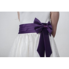 BOW DRESS IN PURPLE V340 (HP1) BUY OR HIRE from just £10.99