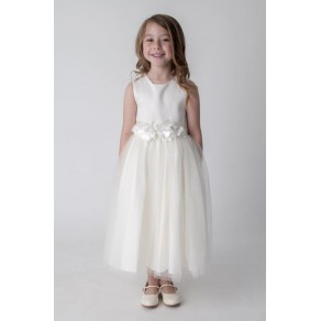 FLOWER DRESS IN IVORY V347 (HP1)- BUY OR HIRE from just £10.99