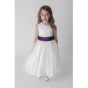 SASH DRESS IN PURPLE V353 (HP1)  BUY OR HIRE from just £10.99