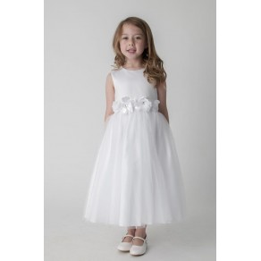 FLOWER DRESS IN WHITE V347 (HP1) BUY OR HIRE from just £10.99
