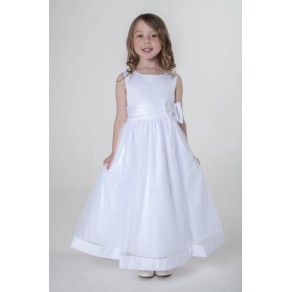 BOW DRESS IN WHITE V340 (HP1)- BUY OR HIRE from just £10.99