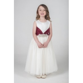 BROACH DRESS IN WINE V341 (HP1)- BUY OR HIRE from just £10.99