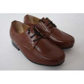 BOYS WILLIAM SHOES IN BROWN (HP1)