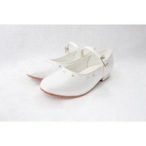 GIRLS SATIN SHOES IN WHITE (HP1)