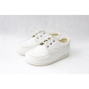 BOYS EARLY STEPS ROYAL SHOES IN WHITE (HP1)