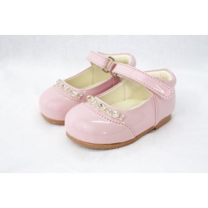 GIRLS EARLY STEPS DIAMOND SHOES IN PINK (HP1)