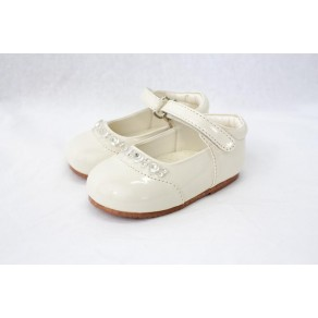 GIRLS EARLY STEPS DIAMOND SHOES IN CREAM (HP1)