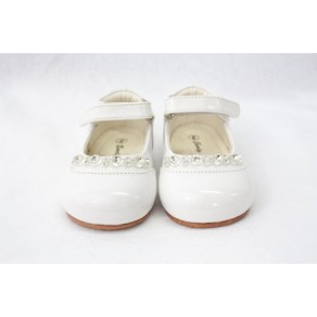 GIRLS EARLY STEPS DIAMOND SHOES IN WHITE (HP1)